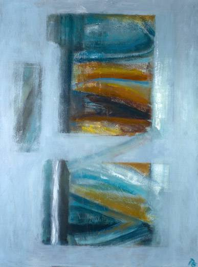 Memories Emerging III (oil on canvas, framed, 80 x 104 cms). Series: Abstracts. Category: abstracts