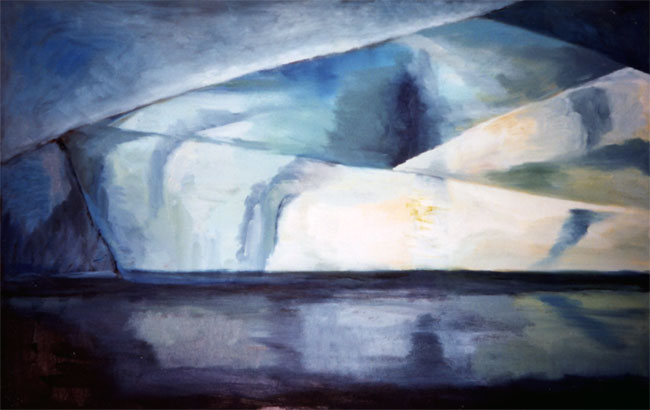 Blue Depths (90 x 70 cms). Series: Antarctic Wastes. Category: oil paintings