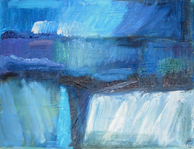 Glacial Expanse (46 x 36 cms). Series: Antarctic Wastes. Category: oil paintings