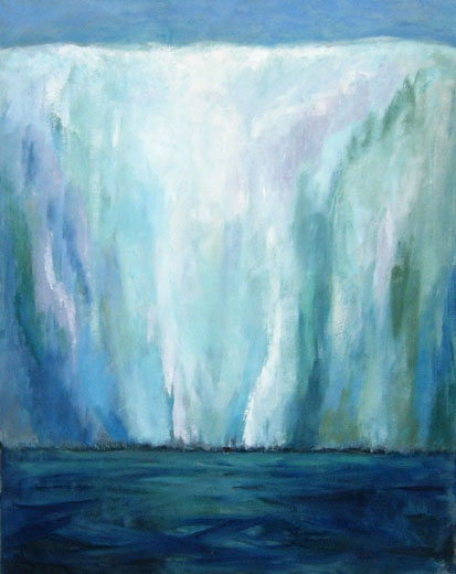 Ice Shelf (90 x 70 cms). Series: Antarctic Wastes. Category: oil paintings