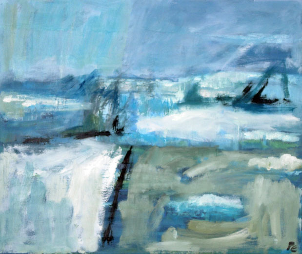 Icescape (60 x 50 cms). Series: Antarctic Wastes. Category: oil paintings