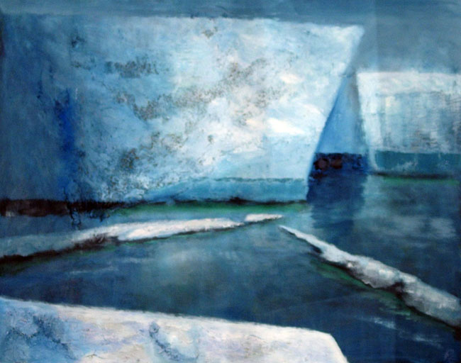 Silence (75 x 60 cms). Series: Antarctic Wastes. Category: oil paintings