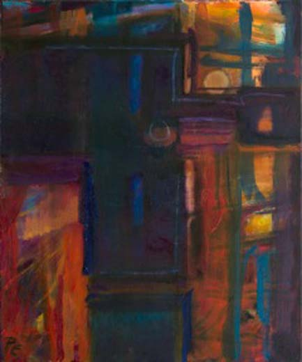 Lighter Beyond II (oil on canvas)  60x50 cms. Series: Doorways Through. Category: oil paintings