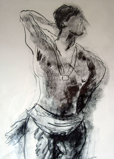 Male Dancer (66 x 49 cms). Series: Figurative. Category: figurative