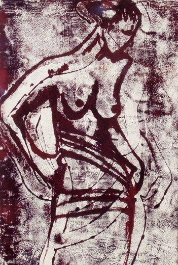 Nude in Motion (38 x 26 cms). Series: Figurative. Category: figurative