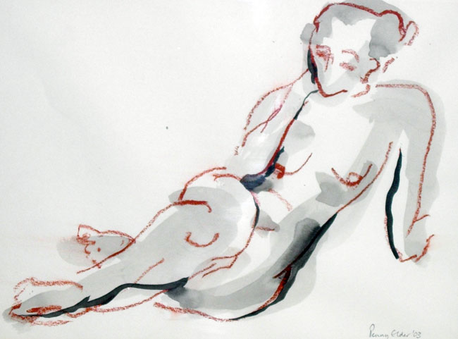 Reclining Nude (32 x 24 cms). Series: Figurative. Category: figurative