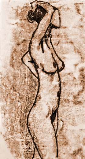 Slim Nude (38 x 26 cms). Series: Figurative. Category: figurative