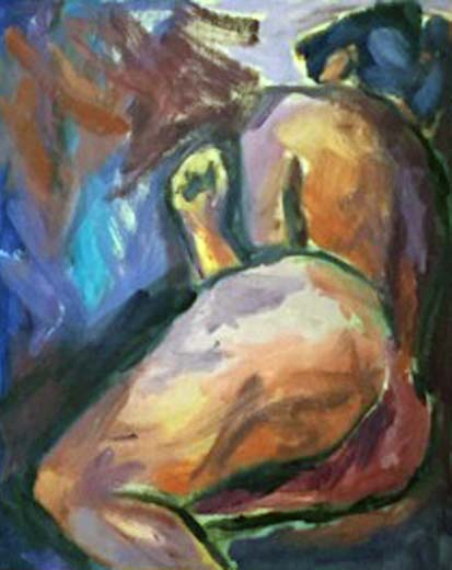 Woman (oil on board, framed, 45x55 cms). Series: Figurative. Category: figurative
