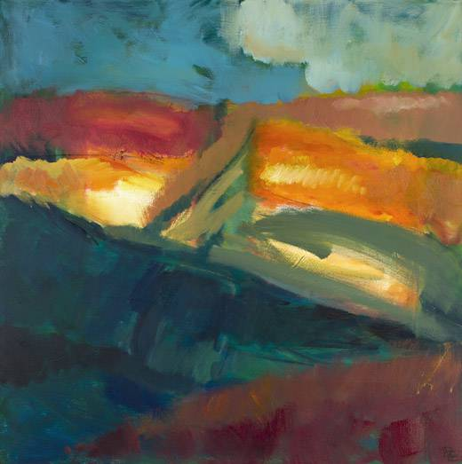 Out There VIII (oil on canvas, 90 x 90 cms). Series: Landscapes Out There. Category: oil paintings
