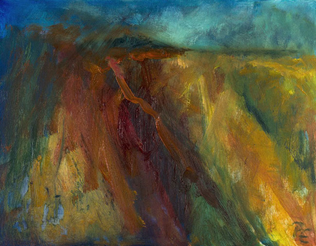 Scottish Wilderness (oil on canvas, framed) 45 x 35 cms. Series: Landscapes Out There. Category: oil paintings
