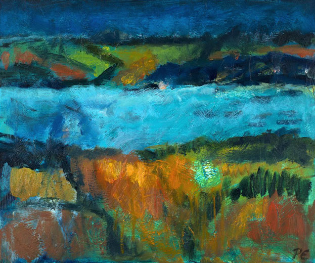 The Isle (oil on canvas, framed) 60 x 50 cms. Series: Landscapes Out There. Category: oil paintings