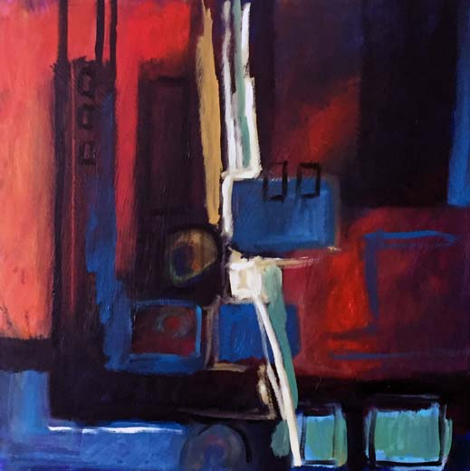 Cityscape (oil on canvas) 60 x 60 cms. Series: New Abstracts. Category: new work