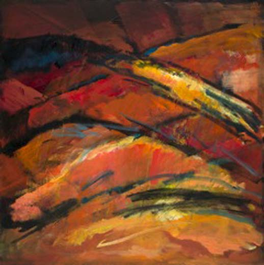 Horizons will Emerge (oil on canvas) 90x90 cms. Series: New Landscapes. Category: new work