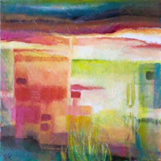 Out There XIII (oil on canvas) 60x60 cms. Series: New Landscapes. Category: new work