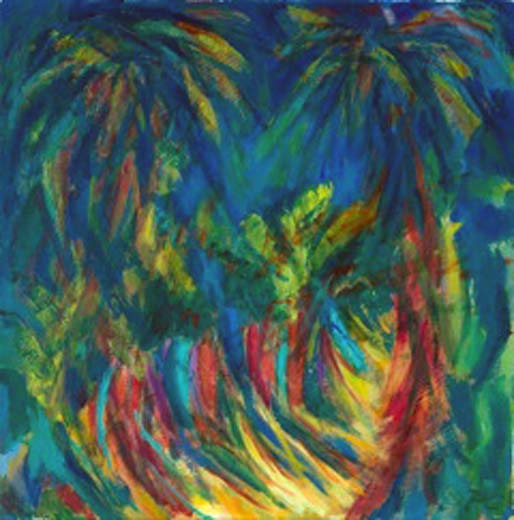 Tropical Memories (oil on canvas) 50x50. Series: New Landscapes. Category: new work